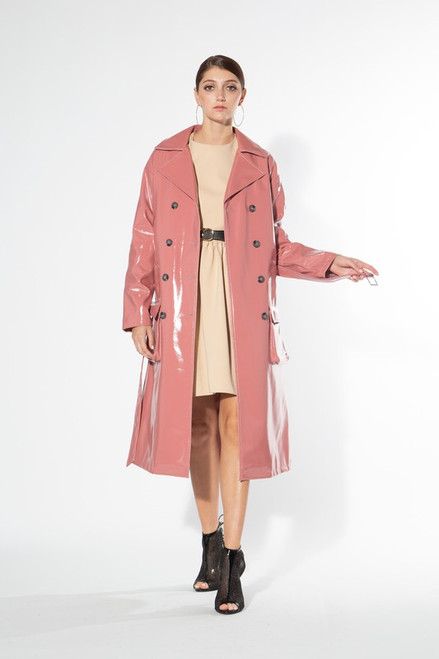 Beulah Faux Leather Trench