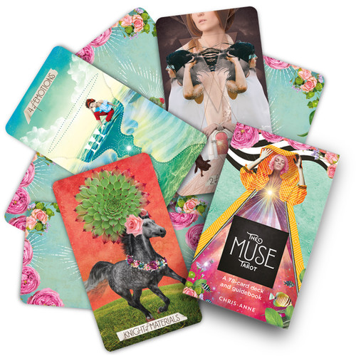 The Muse Tarot ~ A 78-card deck and guidebook by Chris-Anne