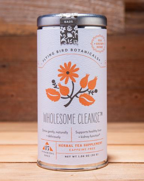 Flying Bird Botanicals Wholesome Cleanse Tea Bags