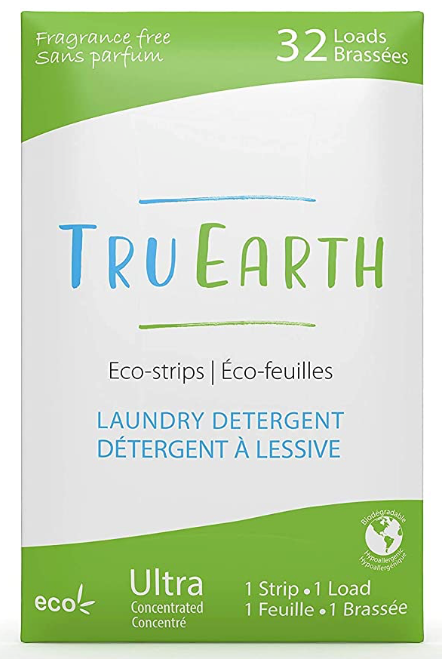 True Earth Laundry Detergent Eco-Strips (Fragrance Free)