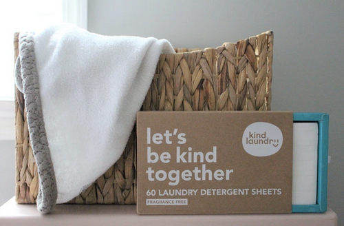 Kind Laundry Eco-Friendly Laundry Detergent Sheets (Fragrance-Free)