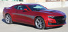 side angle of red 2019 Chevy Camaro Side Door Graphics BACKLASH 2019 2020
