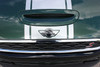 hood closeup of 2018 Mini Cooper Stripes Clubman S Type Rally Decals 2016-2020