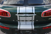 rear of 2018 Mini Cooper Stripes Clubman S Type Rally Decals 2016-2020