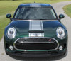 front of 2018 Mini Cooper Stripes Clubman S Type Rally Decals 2016-2020