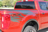 close up of 2020 Ford Ranger Bed Side Stripe Graphics GUARDIAN 2019-2021