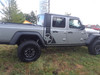profile of gray OMEGA SIDES : Jeep Gladiator Side Door Star Decals Stripe 2020-2021