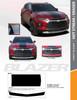 flyer for ERASER BUMPER GRAPHIC   2019-2020 Chevy Blazer Front Bumper Stripe Kit