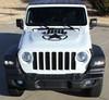 front of STAR Hood Stripes for Jeep Gladiator 2020-2021 ALPHA STAR HOOD