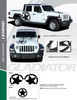 flyer for LEGEND HOOD KIT : 2020-2021 Jeep Gladiator Hood Decals