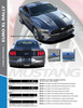 install info for EURO RALLY XL | Ford Mustang Racing Stripes Center Wide Offset Decals