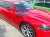 side of red 2018 Dodge Charger Fender Stripes DOUBLE BAR 2011-2021