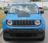 front of blue Jeep Renegade Hood Stripes RENEGADE HOOD 2014-2021
