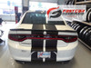 rear of white 2018 Dodge Charger Racing Stripes N-CHARGE 15 2015-2018 2019