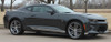 side of black 2017 Chevy Camaro Side Door Stripes SKID ROCKER 2016-2018