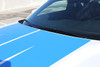 hood view of 2017 Dodge Challenger Racing Stripes WING RALLY 2015-2019