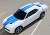 top view of 2017 Dodge Challenger Racing Stripes WING RALLY 2015-2020