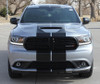 front of silver Dodge Durango SRT Racing Stripes DURANGO RALLY 2014-2019