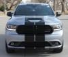 front of silver Dodge Durango SRT Rally Stripes DURANGO RALLY 2014-2018 2019 2020