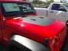side of red 2019 Jeep Wrangler Hood Decal 2018-2019 SPORT HOOD JL Models