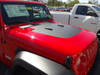 side of red NEW! JL Jeep Wrangler Hood Decals SPORT HOOD 2018-2021