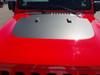front of red OFF ROAD! JL Jeep Wrangler Hood Stripe SPORT HOOD 2018-2020