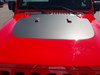 front of red OFF ROAD! JL Jeep Wrangler Hood Stripe SPORT HOOD 2018-2021