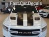 hood of white RAM STRONG! New 1500 Ram Truck Stripes RAM RALLY 2019 2020 2021