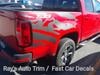 rear of red Chevy Colorado Mountain Graphics ANTERO 2015-2021
