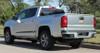 rear of silver Chevy Colorado Rocker Graphics RATON 2015-2021