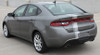 rear angle of Dodge Dart Euro Stripes DARTING E RALLY 3M 2013 2014 2015 2016