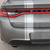 rear of Dodge Dart Euro Stripes DARTING E RALLY 3M 2013 2014 2015 2016