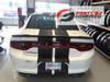 rear of white FAST! RT, Daytona, Hemi Dodge Charger Racing Stripes 2015-2020