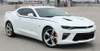 front angle of 2018 Chevy Camaro Upper Stripes PIKE SIDE KIT 2016 2017 2018
