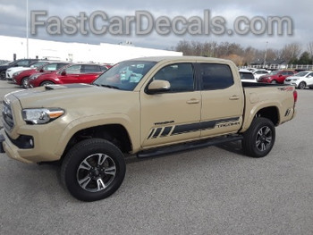 side of tan 2018 Toyota Tacoma Side Graphics CORE 2015-2019