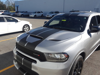front angle of Dodge Durango RT Stripes DURANGO RALLY 2014-2018 2019 2020