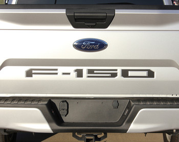 Ford F150 Rear Tailgate Stripes Blackout Inlay Letters 2018-2019