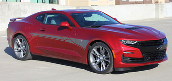 side angle of 2019 Chevy Camaro Side Door Stripes BACKLASH 2019 2020