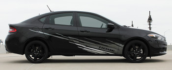 profile of Dodge Dart Side Door Stripes RIPPED DART 2013 2014 2015 2016