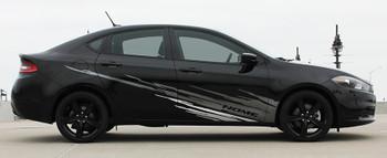 profile of Dodge Dart Side Door Stripes RIPPED DART 2013 2014 2015 2016