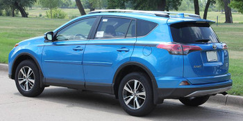 rear angle of RAVAGE SIDES | 2018 Toyota Rav4 Side Stripes Package 2016 2017 2018