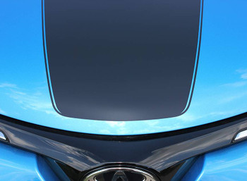 close up of RAVAGE HOOD | 2018 Toyota Rav4 Hood Stripes Kit 2016 2017 2018
