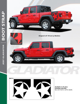 sales info for BOOTSTRAP : Jeep Gladiator Side Star Graphic Decals 2020-2021