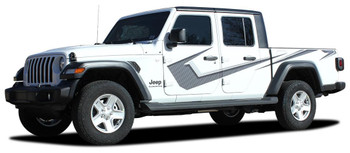 side of digital printed PARAMOUNT : 2020-2021 Jeep Gladiator Side Stripe Graphics Kit  (Solid or Digital Print)
