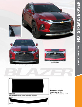 flyer for ERASER BUMPER GRAPHIC | 2019-2020 Chevy Blazer Front Bumper Stripe Kit