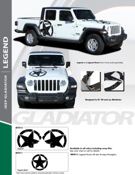 flyer for 2020-2021 Jeep Gladiator Side Decals Package LEGEND SIDE KIT