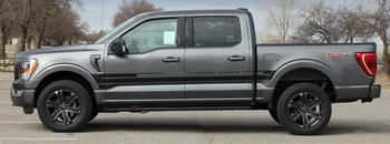 side of gray 2021 Ford F150 Side Graphic Decals SWAY SIDE KIT 2021+