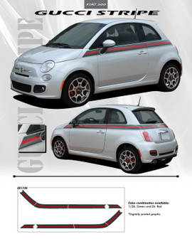 GUCCI | Fiat 500 Graphic Stickers Decals 2012-2018 Digital Print