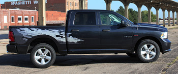 side of black Dodge Ram 1500 Bed Side Graphics RAGE 2009-2016 2017 2018