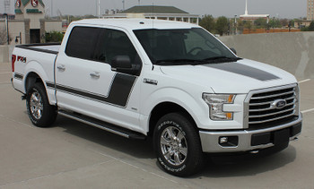 front angle of Ford F150 Truck Side Vinyl Graphics 15 FORCE 2 2015-2020
